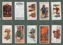 Cigarette cards fire engines, equipment, fire fighters,